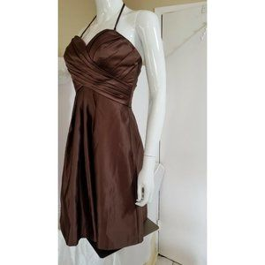 Bill Levkoff Bridesmaid Brown Dress 4 Strap/Strapl